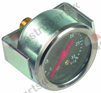 541.229, manometer ø 44mm pressure range 0 up to 3bar thread 1/8