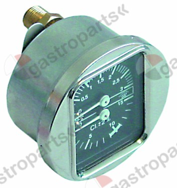 541.259, manometer double scale ø 63mm pressure range 0-3 / 0-15bar