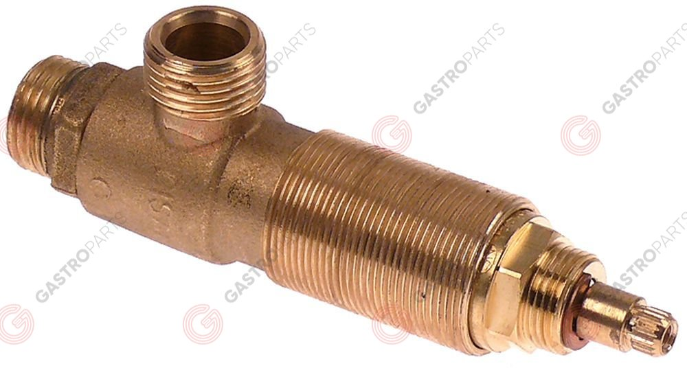 541.817, shut-off valve connection 1/2  1/2  without handl