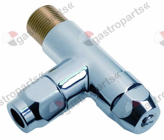 542.891, angle valve inlet 3 mm outlet 3/4  / 15mm