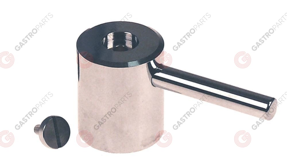 542.897, lever handle suitable for KWC shaft intake o 7,5m