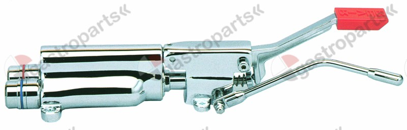 542.921, mixer tap with pedal hot water floor mounting