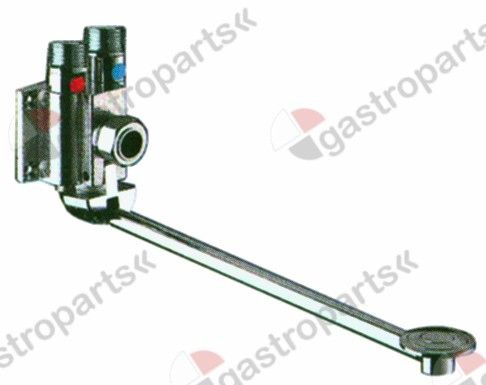 542.931, mixer tap with pedal progressive cold/warm water