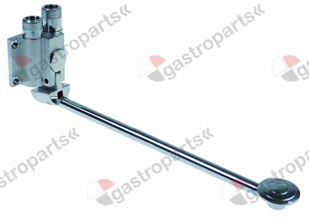542.932, mixer tap with pedal cold water wall mounting