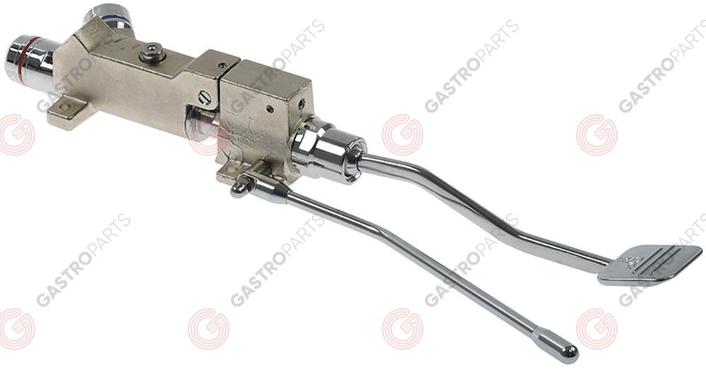 542.934, mixer tap with pedal floor mounting