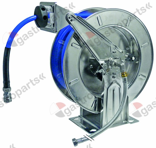 542.951, hose reel open for wall mounting hose length 15m