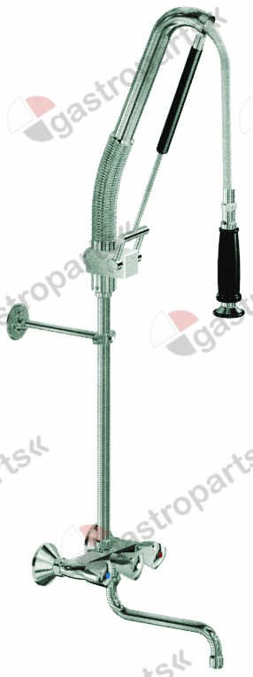 547.245, pre-rinse unit with wall-mounted water tap 1