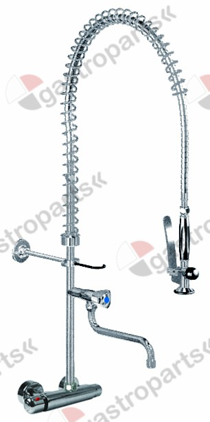 547.255, pre-rinse unit with wall-mounted thermostatic tap