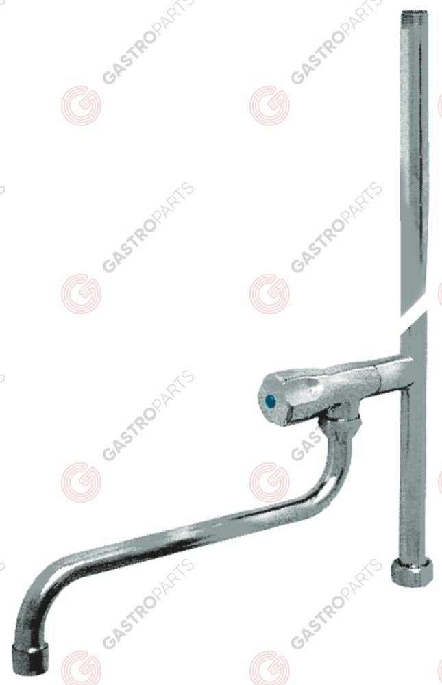 547.429, rising pipe H 700mm with swivel tap cold water