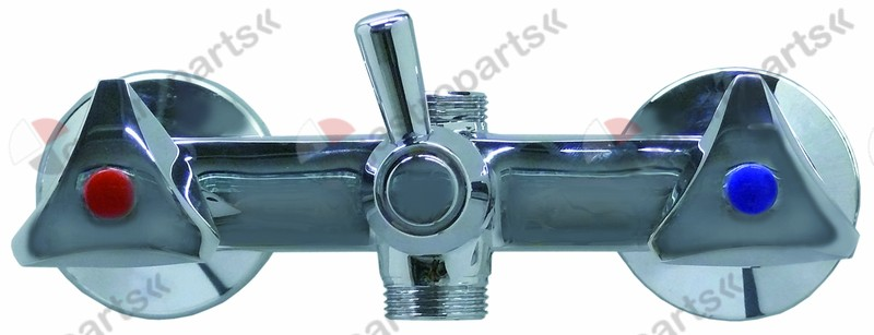 547.631, wall-mounted water tap with changeover valve with return cone 1/2