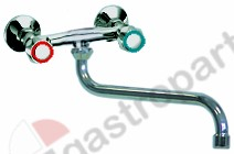 547.860, wall-mounted water tap spout projection 250mm