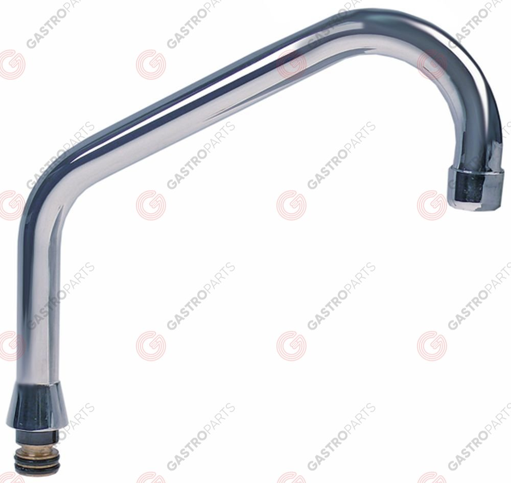 548.390, HU-spout tube ø 20mm spout projection 200mm spout height 120mm