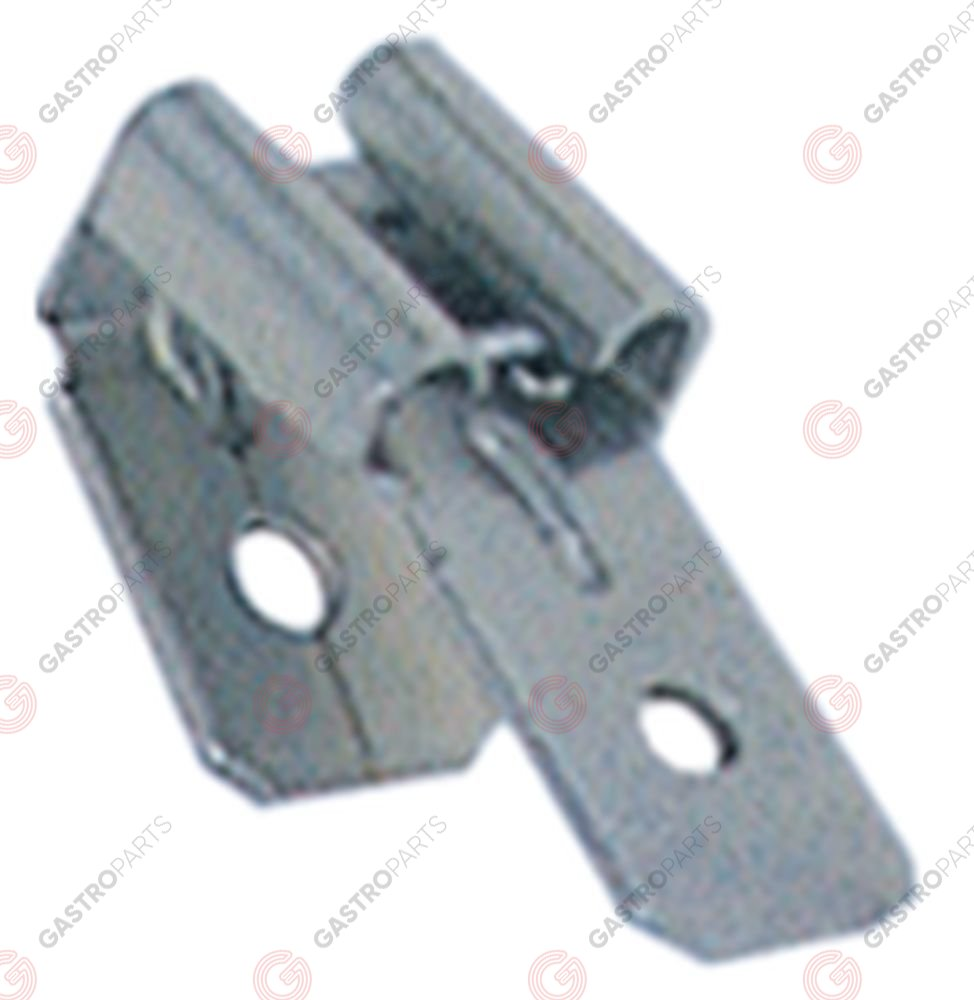 550.047, cosse mâle double taille 6,3x0,8mm CuZn gal Sn t.max. 110°C Q 100 pc