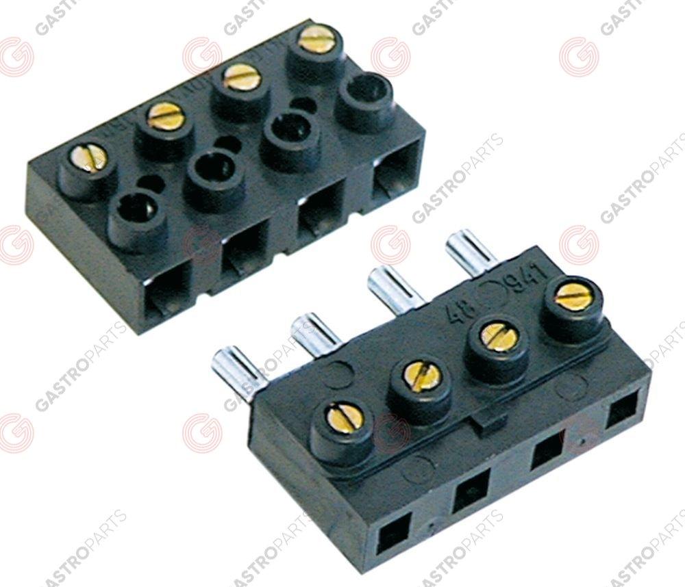 550.103, plug-in terminal block 4-pole