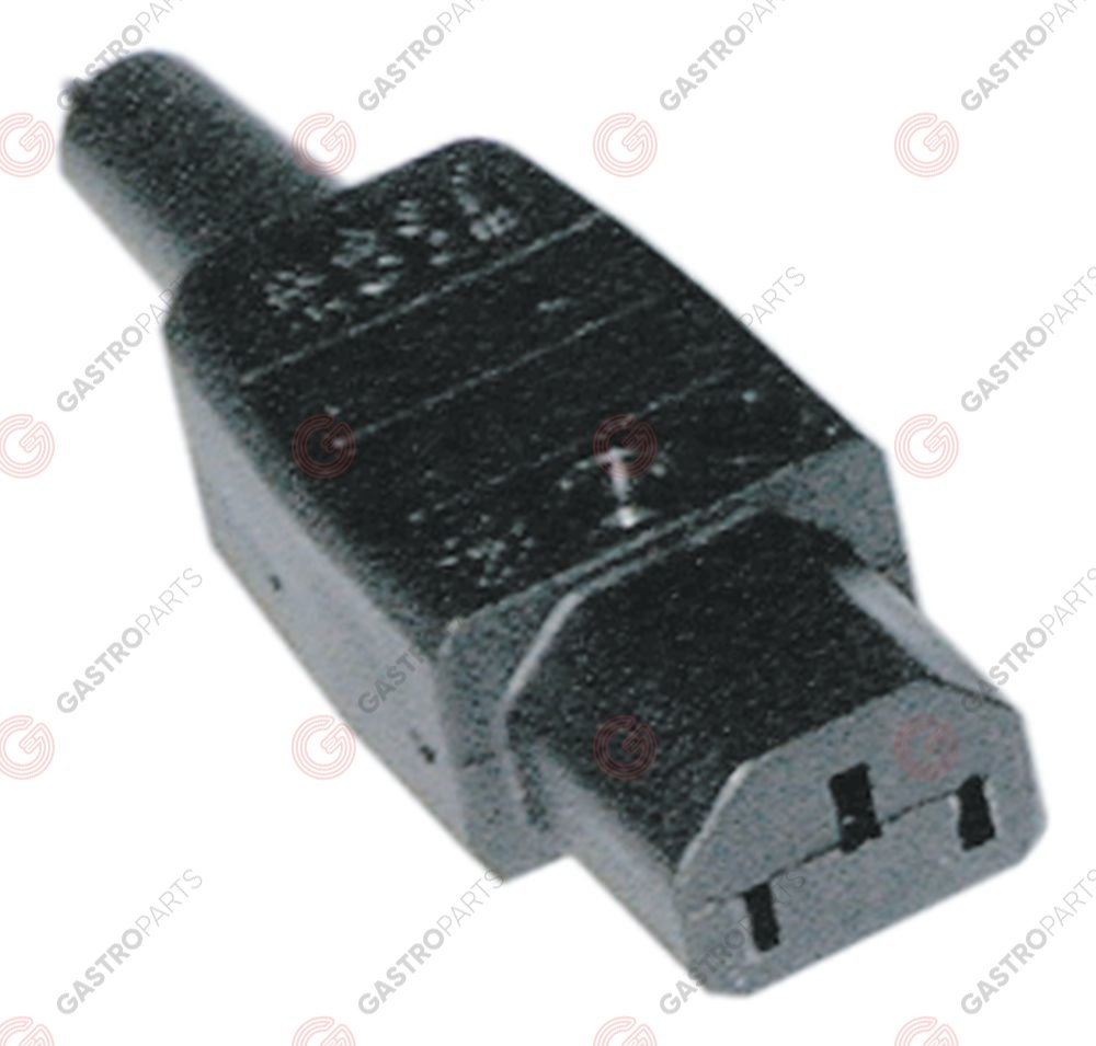 550.242, low temperature appliance socket C13 straight max 10A/250V T70 thermoplastic screw