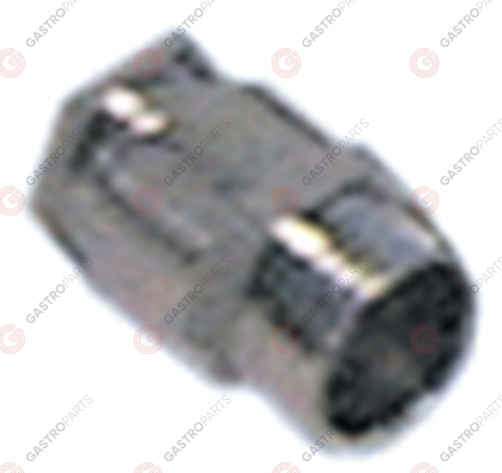 550.302, cable gland thread PG7 cable o 5.0-7.0mm mounting o 12,5mm nickel-plated brass Qty 5 pcs
