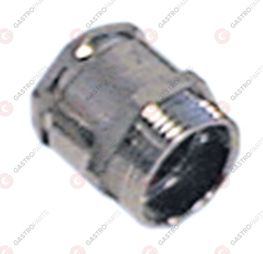 550.306, cable gland thread PG16 cable o 12.0-14.0mm mounting o 21,5mm nickel-plated brass Qty 5 pcs