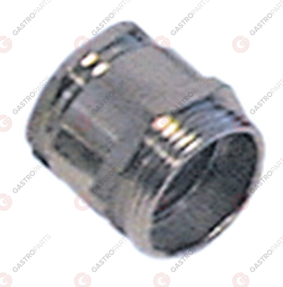 550.307, cable gland thread PG21 cable o 15.0-17.0mm mounting o 28,3mm nickel-plated brass Qty 5 pcs