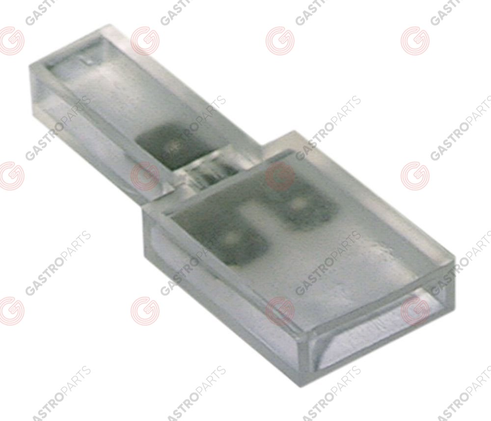 550.327, elastik-Flachsteck-distribution terminal block 1-pole connection male faston 6.3mm with branch