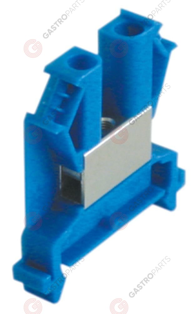 550.383, rail-mounted terminal WIELAND type 9700A/8 S35 1.0-10mm2 top-hat rail 35mm blue W 8mm L 46,6mm