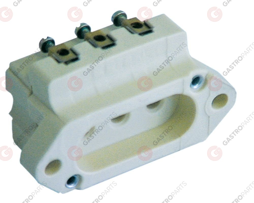 550.404, power socket I-II phase 240V max. 16A countries I with screw connection for heating element
