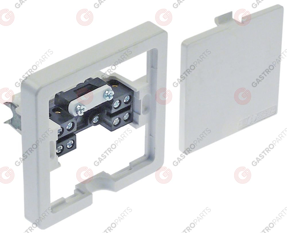 550.425, device connector box 5-pole contacts 3P+N+E max. 16A max 400V clamps 2,5mm2 H 14mm
