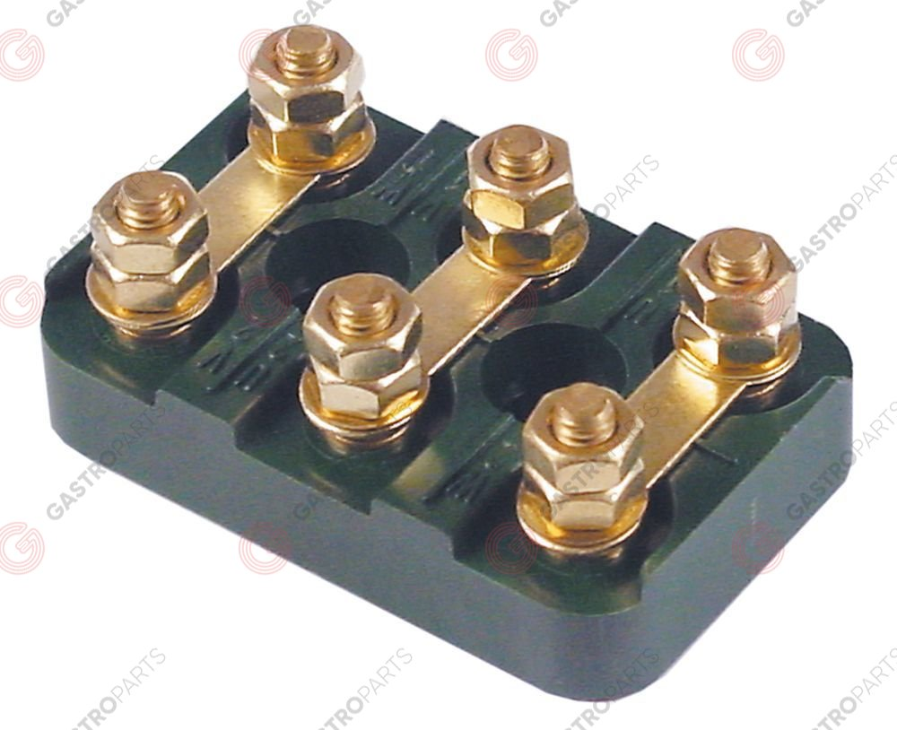 550.459, terminal board 3-pole M6 L 70mm W 45mm