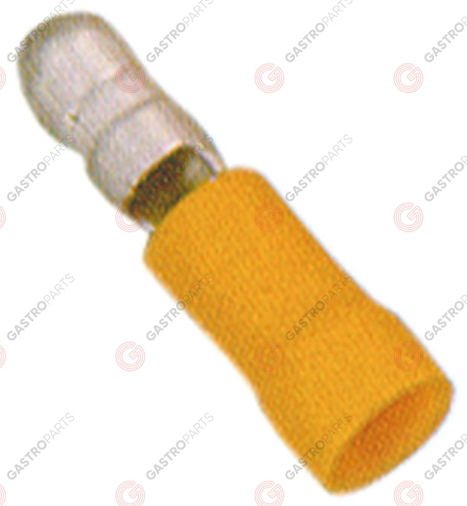 550.619, bullet connector size o5mm 4.0-6.0mm2 Qty 100 pcs insulation PVC Cu gal Sn yellow t.max. 75°C