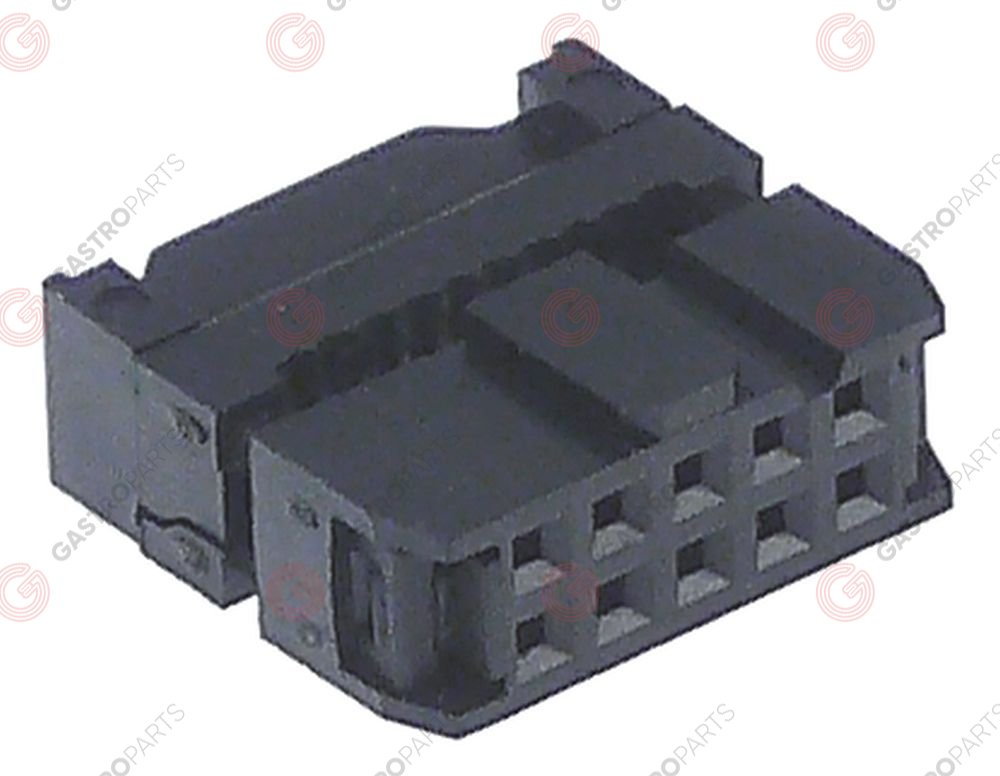 550.830, plug connector 10-pole for ribbon cable