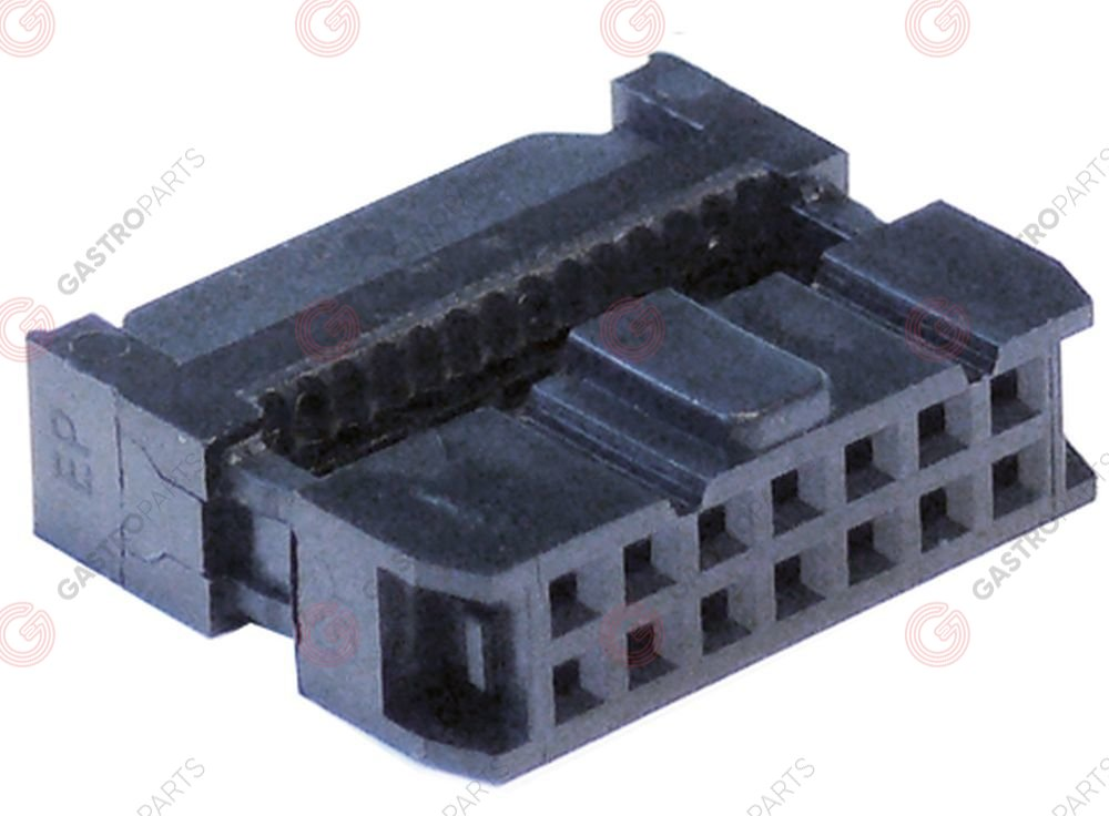 550.831, plug connector 14-pole for ribbon cable