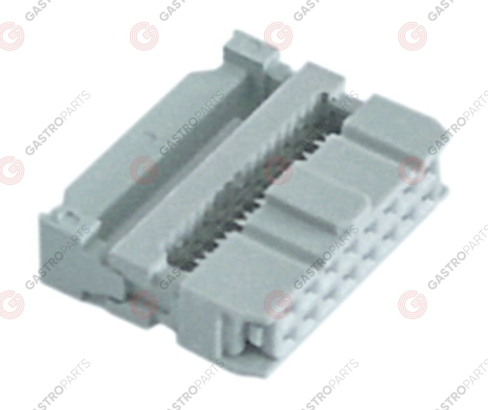 550.832, plug connector 16-pole for ribbon cable