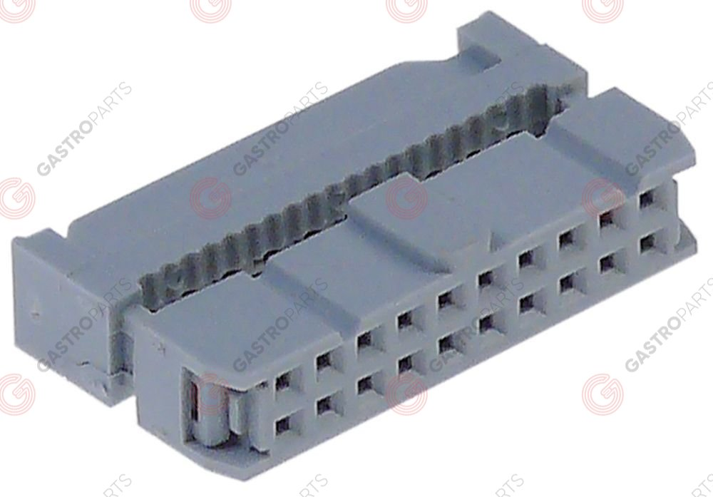 550.833, plug connector 20-pole for ribbon cable raster size 2,54mm