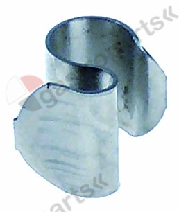 550.981, probe clip for pipe o 8,5 mm for probe o 6 mm