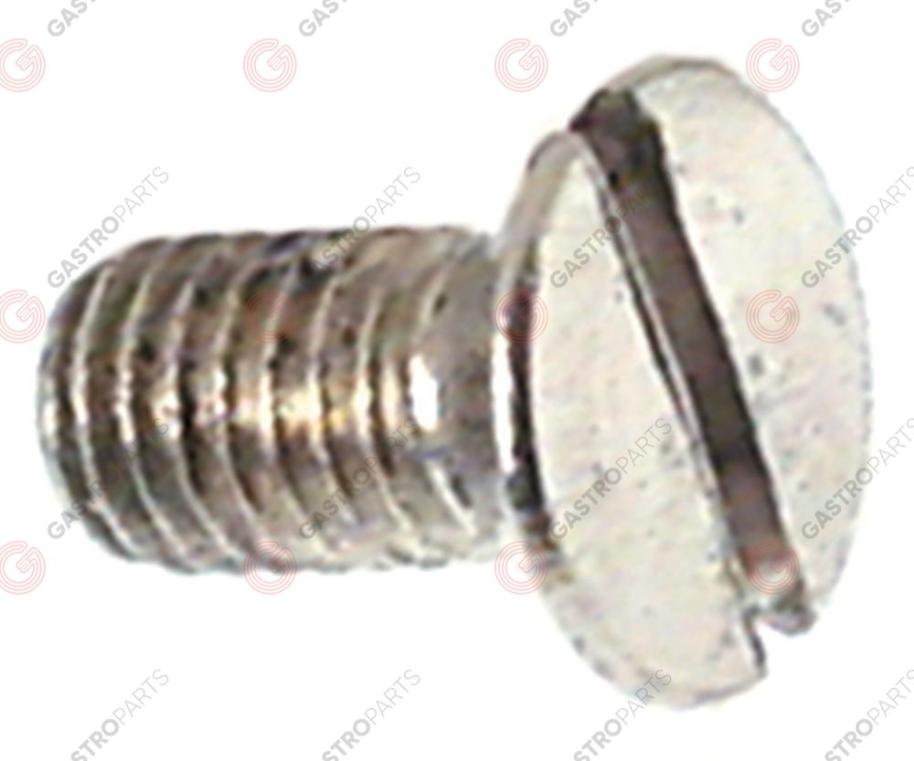 560.077, countersunk screw thread M5 L 10mm SS DIN 963/ISO 2009 Qty 20 pcs intake slotted