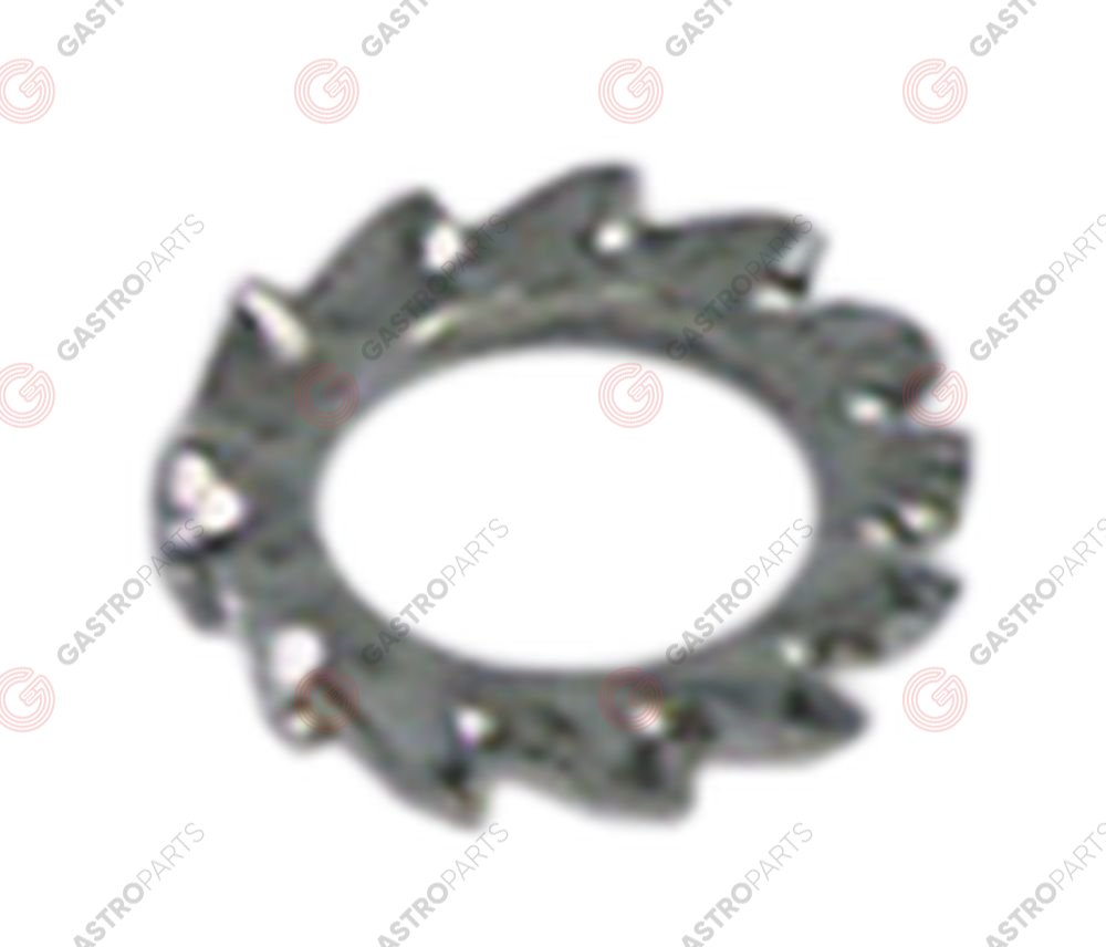 560.192, tooth lock washer ID o 10,4mm ED o 18mm SS DIN/ISO DIN 6798A Qty 1 pcs for thread M10