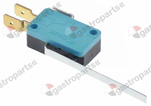 580.078, microswitch with lever 250V 16A 1CO