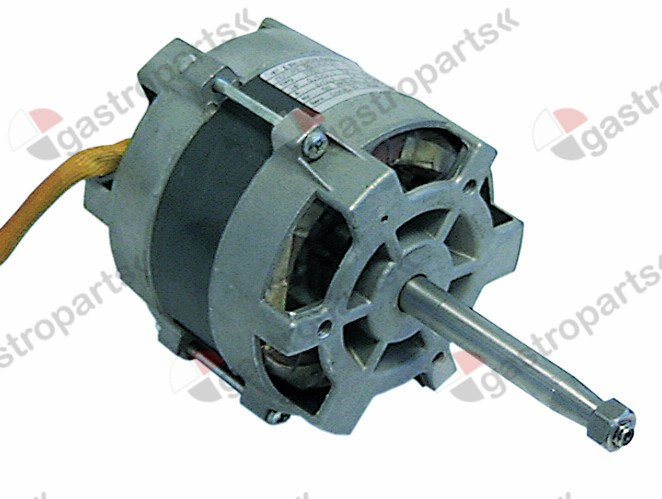 601.043, fan motor 220-240V 1 phase 50Hz 0.37/0.07kW 0.1/0.5HP 1400/2700rpm speeds 2 L1 123mm L2 107mm