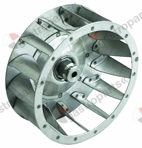 601.061, fan wheel D1 ø 160mm H1 60mm blades 15 D2 ø 18mm D3 ø 18mm H2 35mm