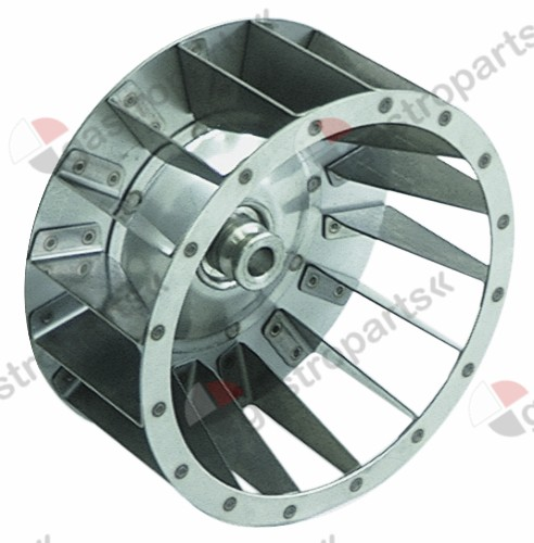 601.068, fan wheel D1 ø 160mm H1 70mm blades 16 D2 ø 12mm D3 ø 16mm H2 29mm