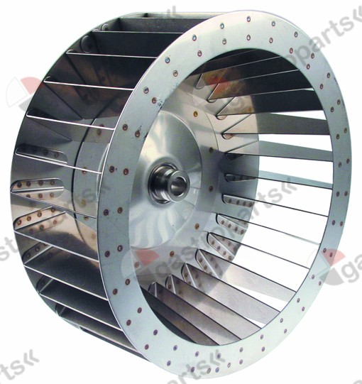 601.204, fan wheel D1 o 350mm H1 135mm vanes 30 D2 o 19,5m