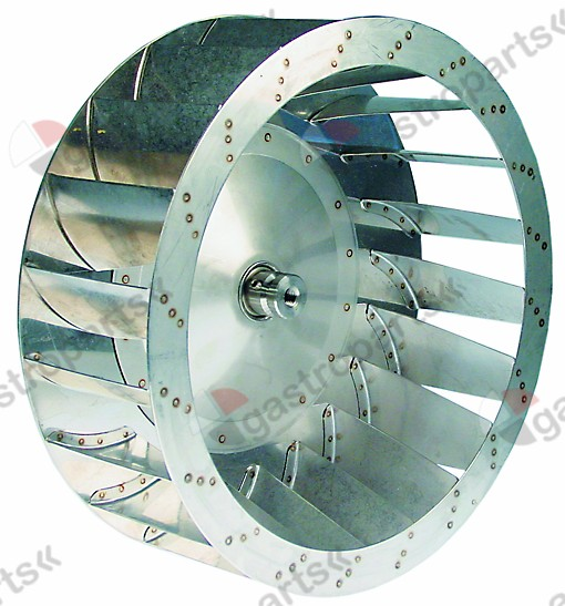 601.209, fan wheel D1 o 400mm H1 135mm vanes 20 D2 o 12mm