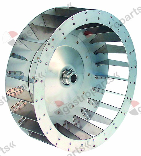 601.217, fan wheel D1 o 335mm H1 100mm vanes 24 D2 o 19,5m