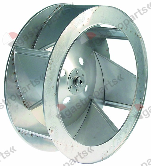 601.218, fan wheel D1 o 440mm H1 152mm vanes 6 D2 o 10mm