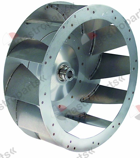 601.227, fan wheel D1 o 350mm H1 120mm vanes 12 D2 o 19,5m