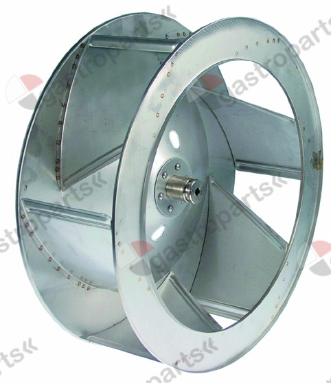 601.232, fan wheel D1 o 440mm H1 155mm vanes 6 D2 o 10mm