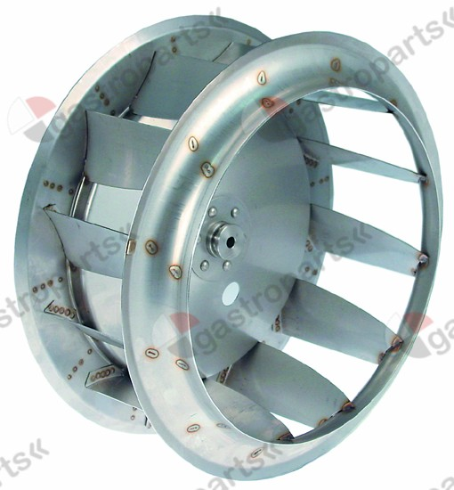 601.234, fan wheel D1 o 380mm H1 170mm vanes 12 D2 o 10mm