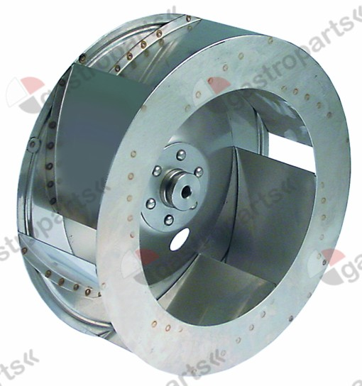 601.235, fan wheel D1 o 280mm H1 100mm vanes 6 D2 o 10mm