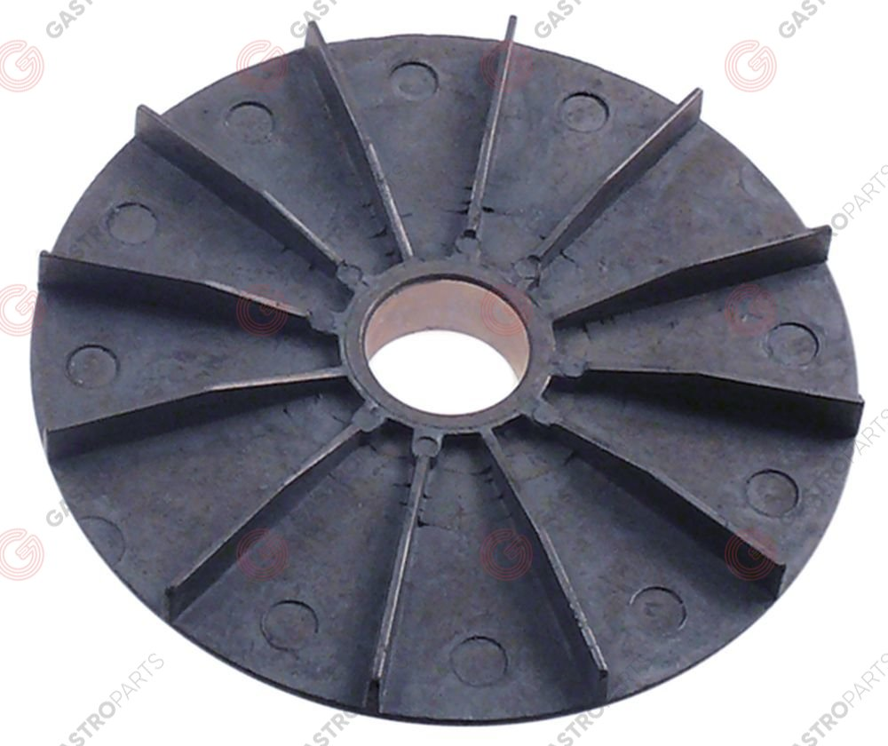 601.443, fan wheel for motor cooling ED o 127mm ID o 25mm