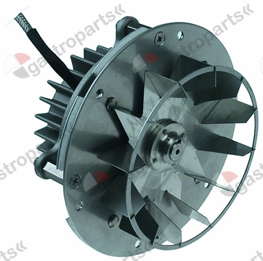 601.462, hot air fan 180V L1 91mm L2 5mm L3 40mm L4 95mm