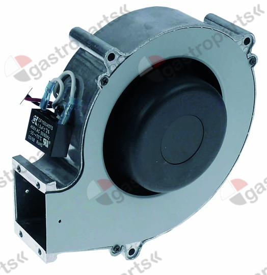 601.472, radial fan 230V AC 50/60Hz 65/80W H1 190mm